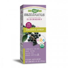 Nature's Way 有機兒童接骨木露 120ml Organic Sambucus for Kids (Standardilzed Elderberry) 120ml